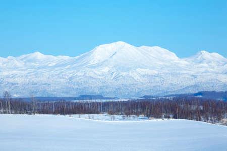 biei: From biei hill overlooking Tokachi mountain range