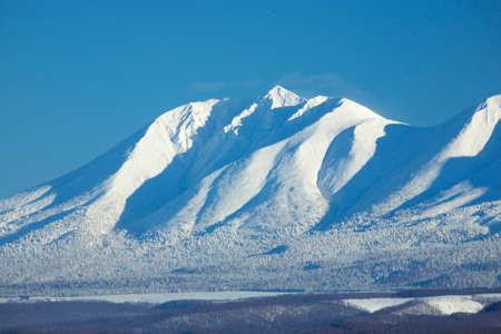 hill range: From biei hill overlooking Tokachi mountain range