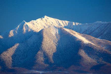 mountain range: Tokachi mountain range Stock Photo
