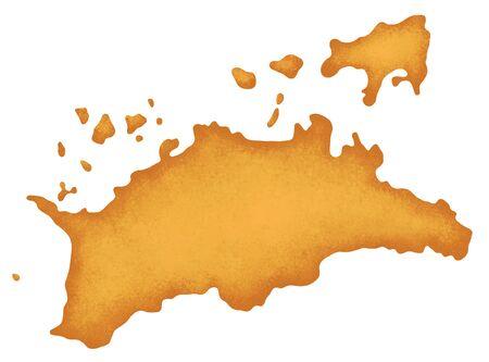 shikoku: Kagawa Prefecture map