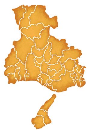 prefecture: Hyogo Prefecture border containing map