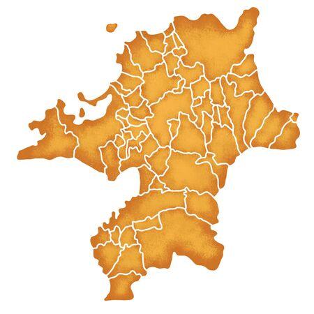 prefecture: Fukuoka Prefecture border containing map