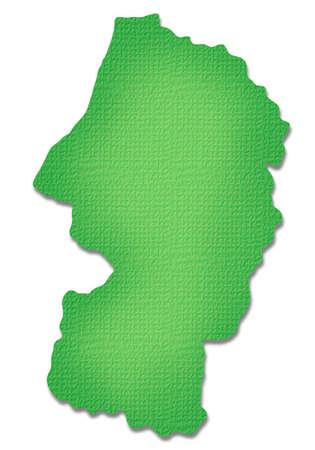 prefecture: Yamagata Prefecture map of Paper Craft tone