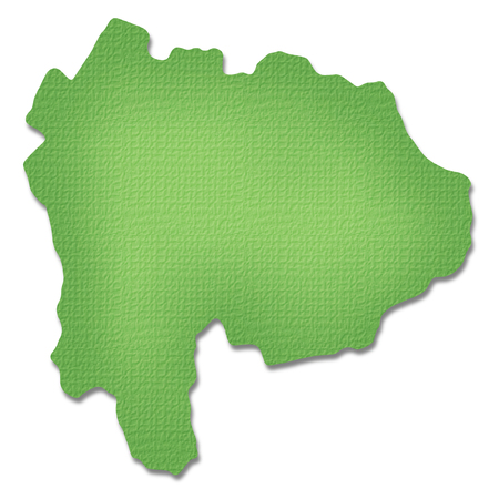 prefecture: Yamanashi Prefecture map of Paper Craft tone