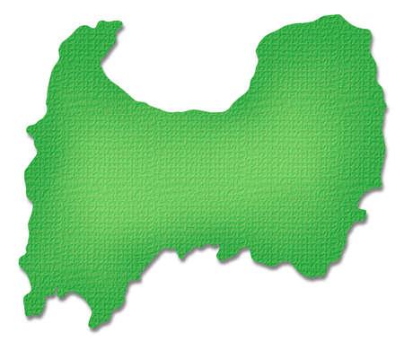Toyama Prefecture map of Paper Craft tone