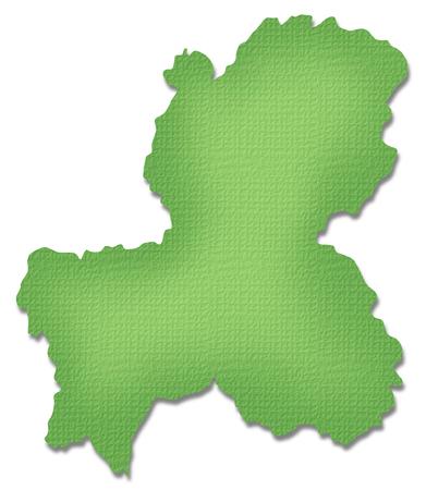 prefecture: Gifu Prefecture map of Paper Craft tone
