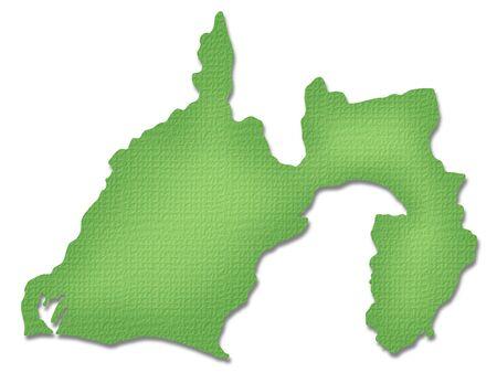 prefecture: Shizuoka Prefecture map of Paper Craft tone