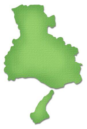 prefecture: Hyogo Prefecture map of Paper Craft tone