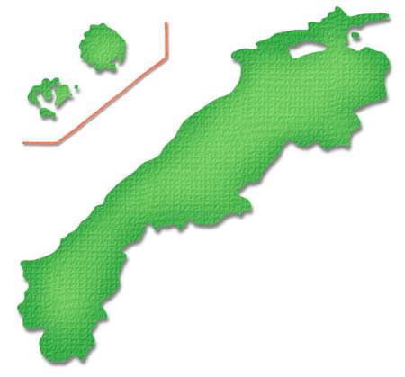 prefecture: Shimane Prefecture map of Paper Craft tone Stock Photo
