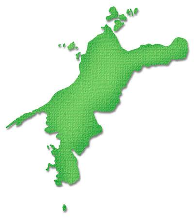 shikoku: Ehime Prefecture map of Paper Craft tone