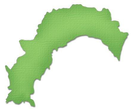 shikoku: Kochi Prefecture map of Paper Craft tone
