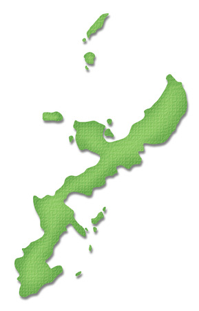 paper craft: Okinawa Prefecture map of Paper Craft tone