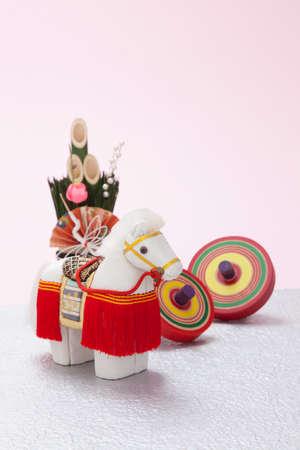 coma: Decoration horse and coma and mini Kadomatsu