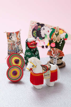 lion figurines: Decoration horse and New Year decorations