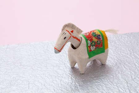 papiermache: Horse of papier-mache Stock Photo