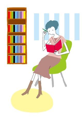 writing chair: Women lifestyle Stock Photo