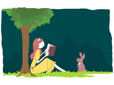one piece dress: Reading in the forest