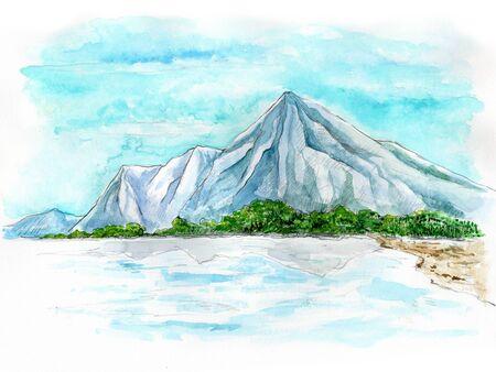 popular tale: Mountain Stock Photo