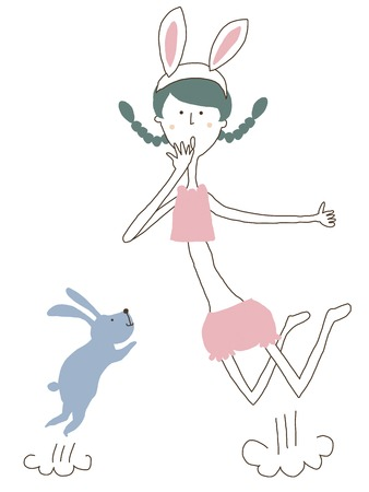 belly button: Rabbit and jump