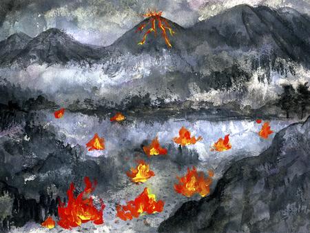 infierno: Infierno  Foto de archivo