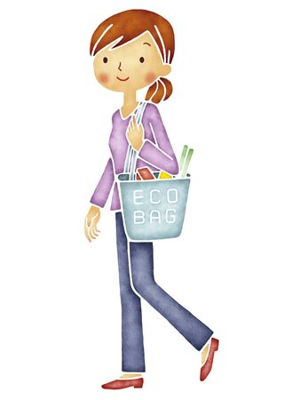 environmental issues: Eco bag Stock Photo