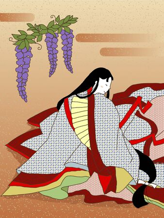 period costume: The tale of Genji Stock Photo