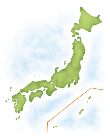 Carte Japon Banque d'images - 42587461