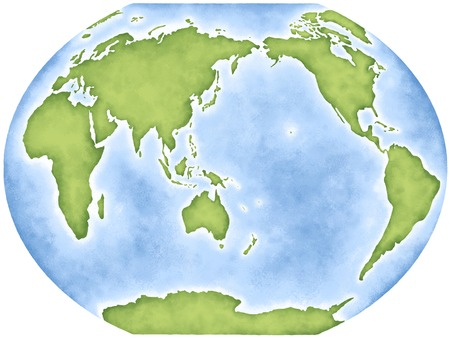 world map: Map of the world Stock Photo