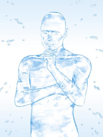 suffer: Men suffer water