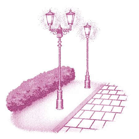 gas lamp: Gas lamps