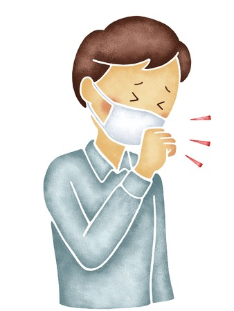 who: Men who cough in the mask