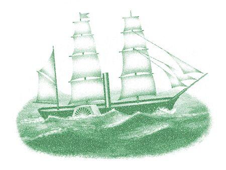 that: Black ships that sail the sea