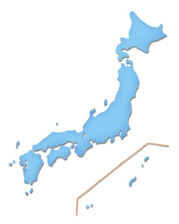 archipelago: Japan map of Paper Craft tone
