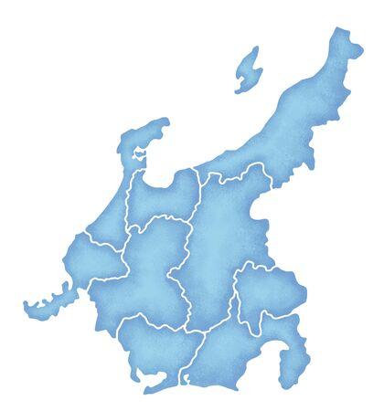 prefecture: Chubu map