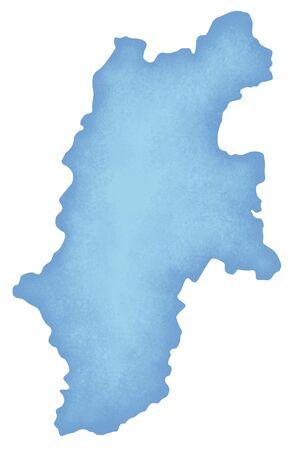 prefecture: Nagano Prefecture map Stock Photo
