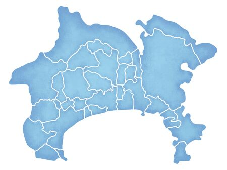 Kanagawa Prefecture border containing map Reklamní fotografie