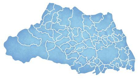 Saitama Prefecture border containing map