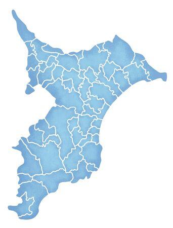 prefecture: Chiba Prefecture border containing map Stock Photo