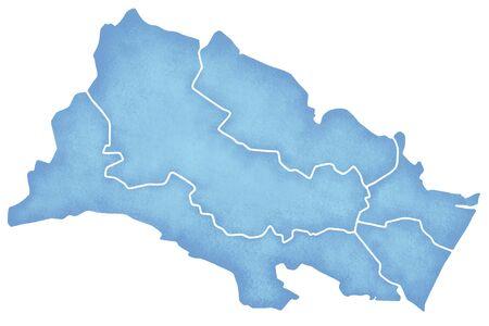 northeast: Sendai border containing map