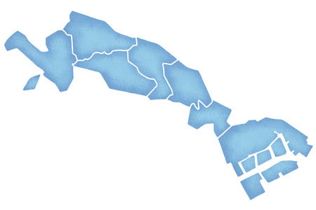 Kawasaki border containing map Stock Photo
