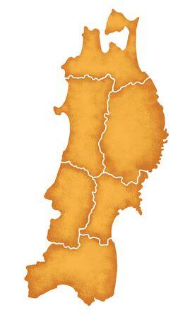 northeast: Tohoku map Stock Photo