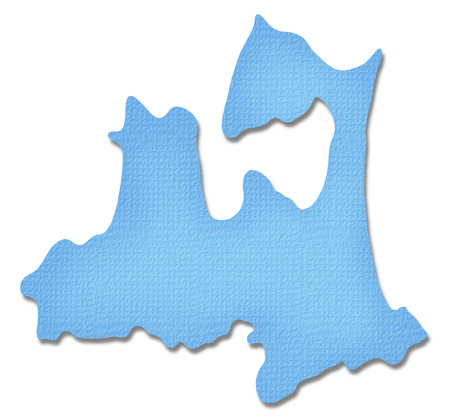 prefecture: Aomori Prefecture map of Paper Craft tone