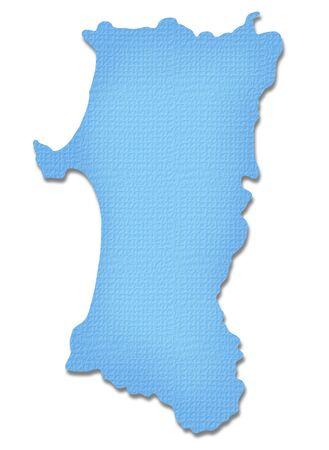 akita: Akita Prefecture map of Paper Craft tone Stock Photo