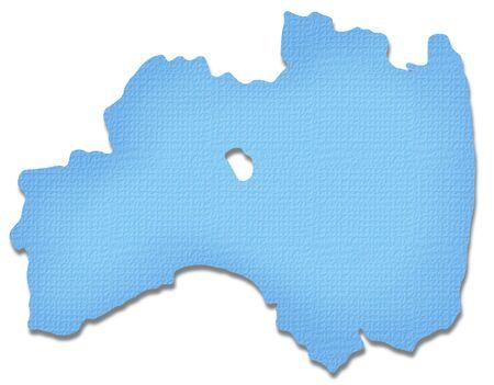 prefecture: Fukushima Prefecture map of Paper Craft tone