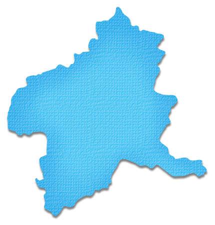 prefecture: Gunma Prefecture map of Paper Craft tone Stock Photo
