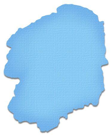 kanto: Tochigi Prefecture map of Paper Craft tone