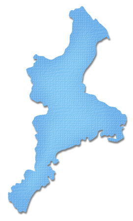 iga: Mie Prefecture map of Paper Craft tone