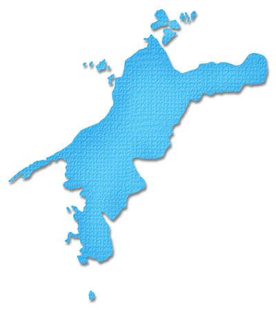 prefecture: Ehime Prefecture map of Paper Craft tone