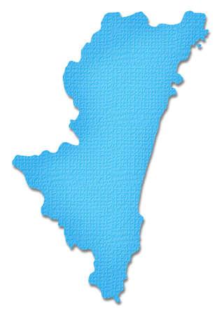 prefecture: Miyazaki Prefecture map of Paper Craft tone