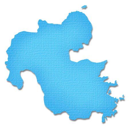 kyushu: Oita Prefecture map of Paper Craft tone